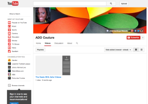 Adia youtube page