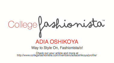 Checkout My College Fashionista Page!!